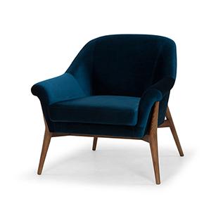 Charlize Matte Midnight Blue Chair