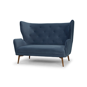 Klara Matte Dusty Blue Double Seat Sofa