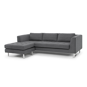 Matthew Matte Shale Grey Sectional