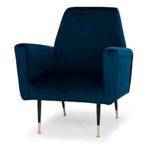 Victor Midnight Blue and Black Occasional Chair