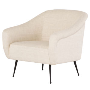 Lucie Off White and Black Occasional Chair
