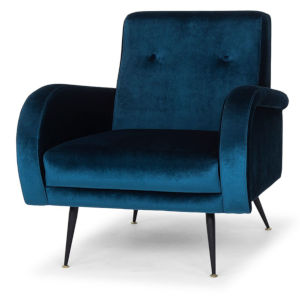 Hugo Midnight Blue and Black Occasional Chair