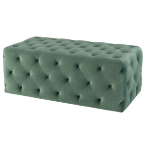 Tufty Moss Rectangle Ottoman