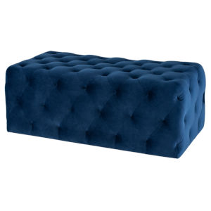 Tufty Navy Rectangle Ottoman