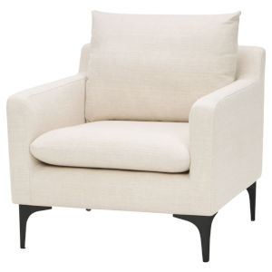 Anders Off White and Black Occasional Chair
