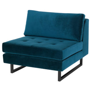 Janis Midnight Blue and Black Sofa Extension