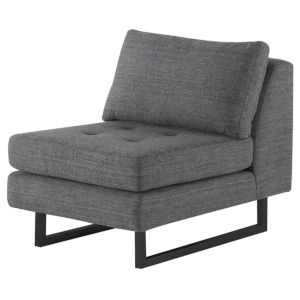Janis Dark Gray Armless Sofa Extension