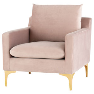 Anders Blush and Gold Occasional Chair