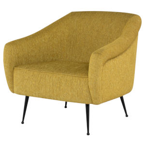 Lucie Yellow and Brown Occasional Chair