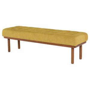 Arlo Yellow and Walnut Bench