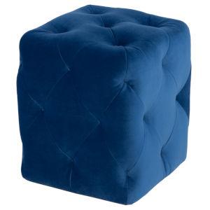 Tufty Sapphire Blue Ottoman