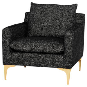 Anders Black and Gold Occasional Chair