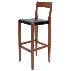 Ameri Walnut and Black Bar Stool