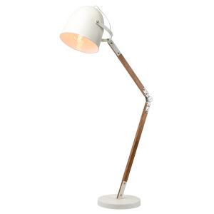 Winston White and Brown One-Light Floor Lamp