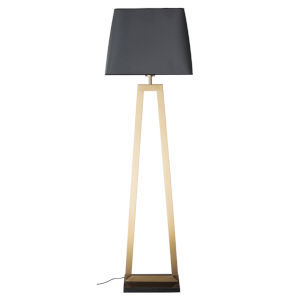 Trapeze Matte Gray and Gold One-Light Floor Lamp