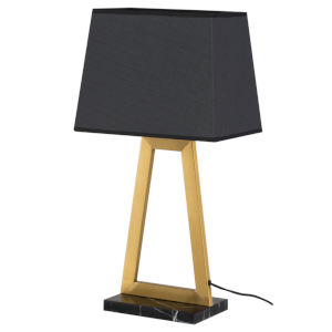 Trapeze Matte Gray and Gold One-Light Table Lamp