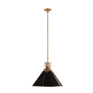 Prizia Matte Black and Gold One-Light Pendant