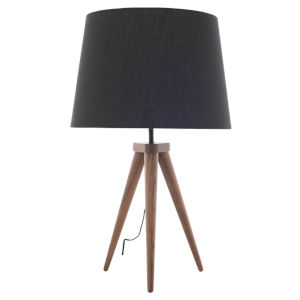 Triad Black and Walnut One-Light Table Lamp