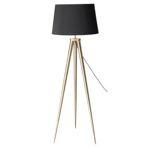 Triad Black and Walnut One-Light Floor Lamp