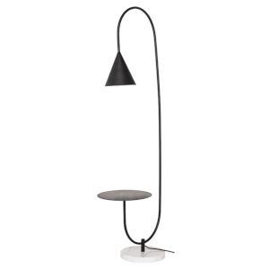 Arnold Matte Black One-Light Floor Lamp