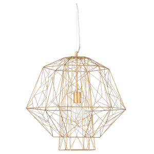 Zeus Matte Gold One-Light Pendant