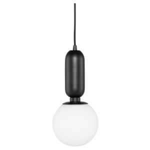 Carina Matte Black One-Light Mini Pendant