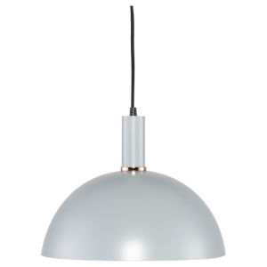 Rosie Maxi Concrete Gray and Black One-Light Pendant