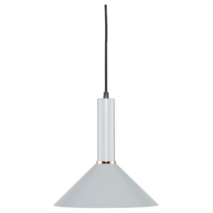 Simona Concrete Gray and Black One-Light Pendant