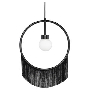 Blanca Matte Black One-Light Pendant