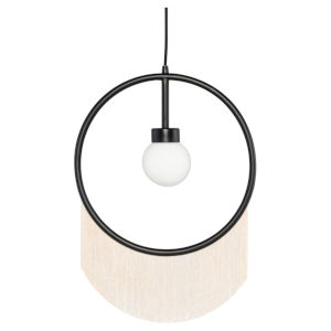 Blanca Beige and Black One-Light Pendant