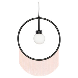 Blanca Blush and Black One-Light Pendant
