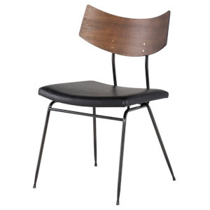 Soli Walnut and Black Dining Chair