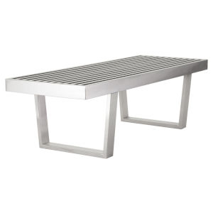 Zoe Polished Silver Bench