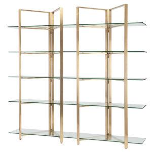 Elton Polished Gold Shelf