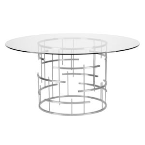 Tiffany Polished Silver Dining Table