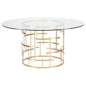 Tiffany Brushed Gold Dining Table