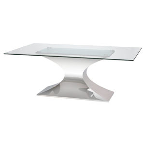 Praetorian Clear and Silver Dining Table