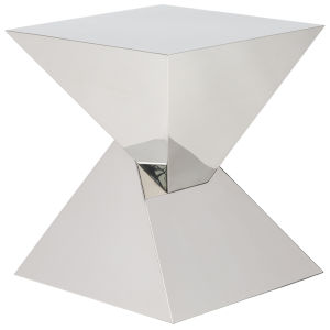 Giza Polished Silver Side Table