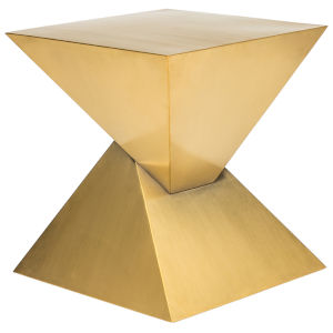Giza Brushed Gold Side Table