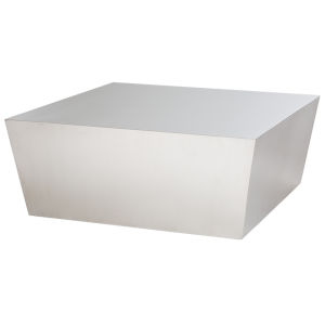 Cube Brushed Silver Coffee Table