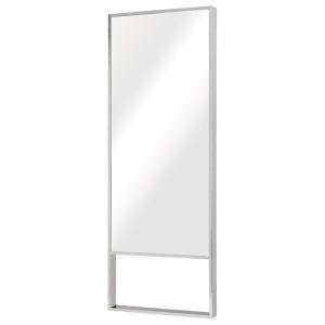 Alexa Polished Silver Floor Mirror
