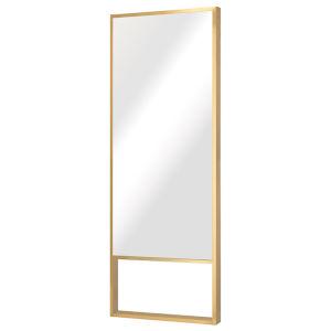 Alexa Brushed Gold Floor Mirror