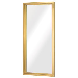 Glam Brushed Gold Floor Mirror