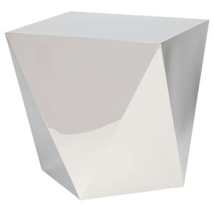 Penta Polished Silver Side Table