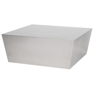 Cube Polished Silver Coffee Table
