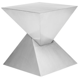 Giza Brushed Silver Side Table