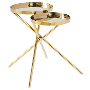 Olivia Polished Gold Side Table