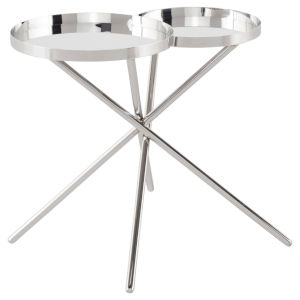 Olivia Polished Silver Side Table