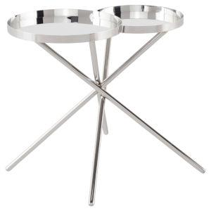 Olivia Polished Silver Side Table