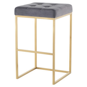 Chi Gold and Gray Bar Stool